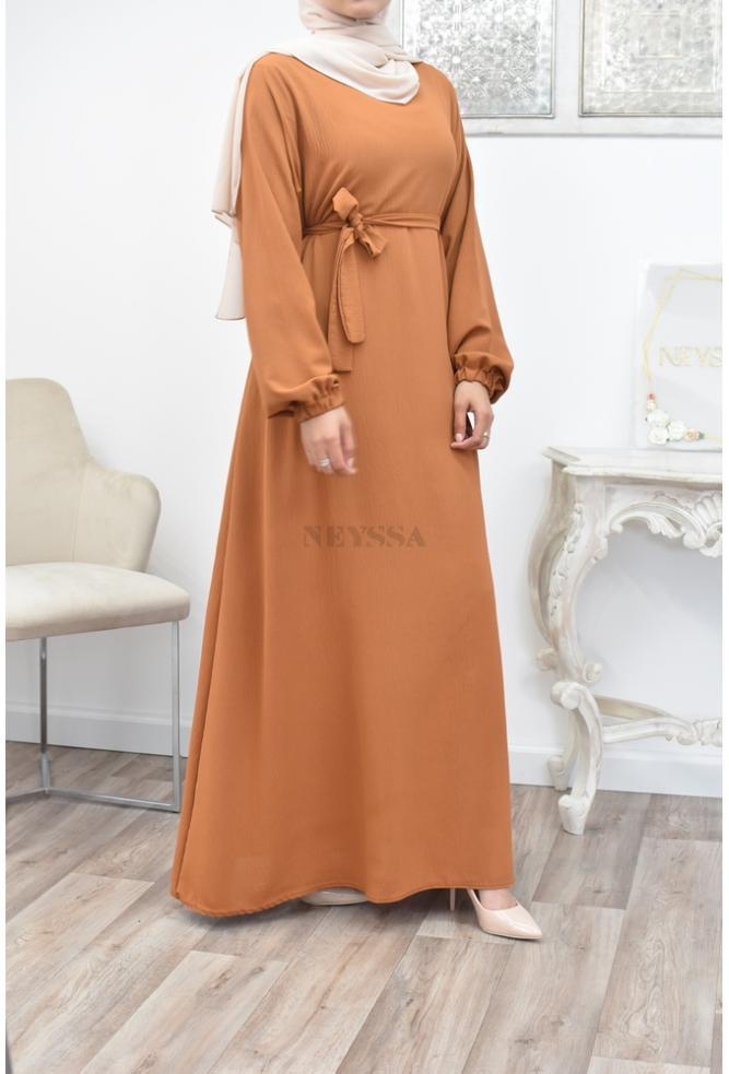 Abaya longue évasée pas cher