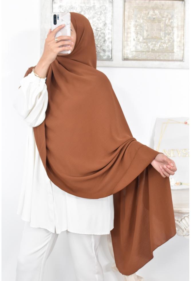 Flowing slip-on hijab