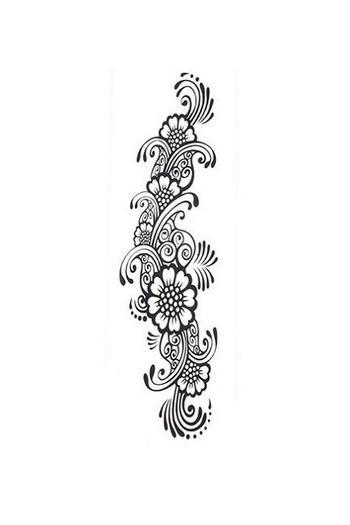 Tatouage éphémere flora