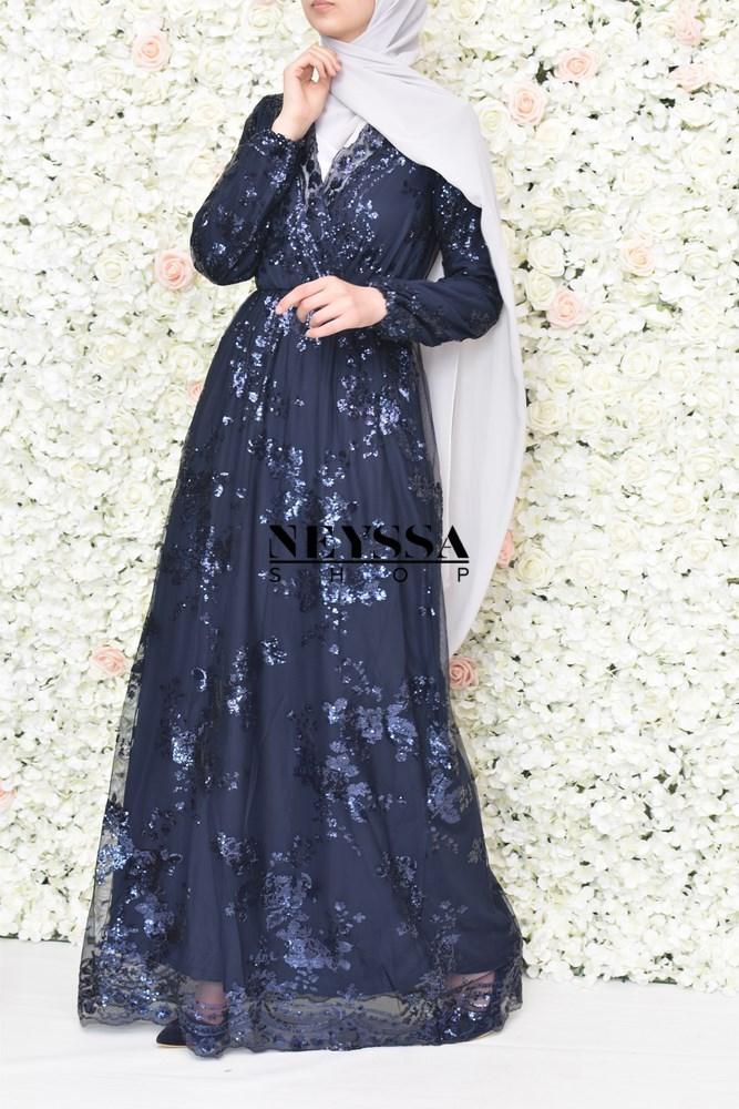 robe longue sequin parfaite pour l'Aïd