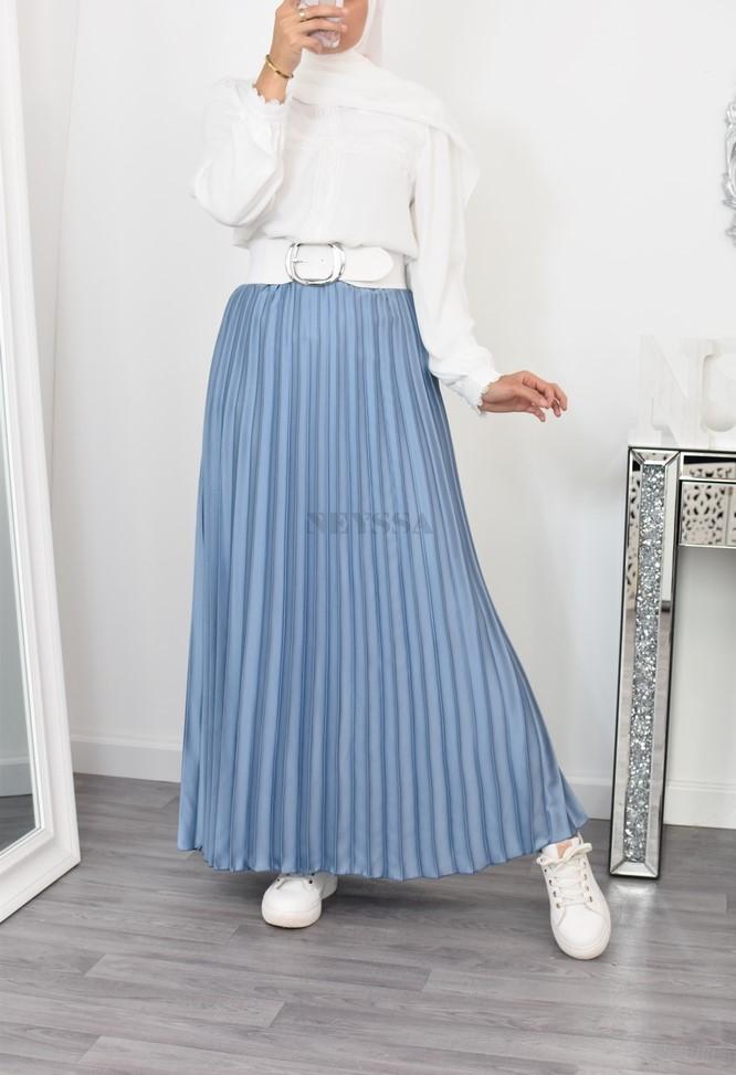 jupe longue plissée femme misulmane