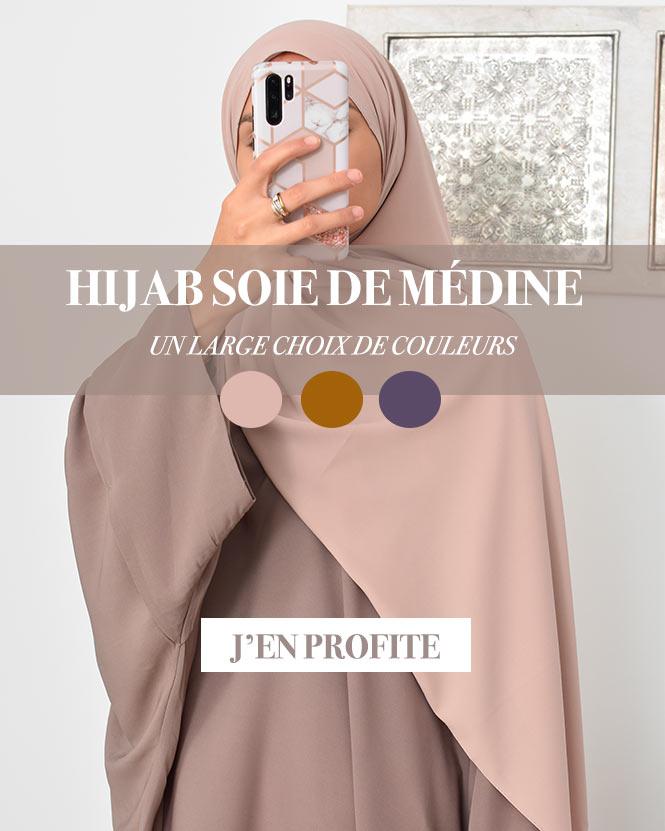 Hijab soie de m/édine Luxueux pour femme musulmane voil/ée